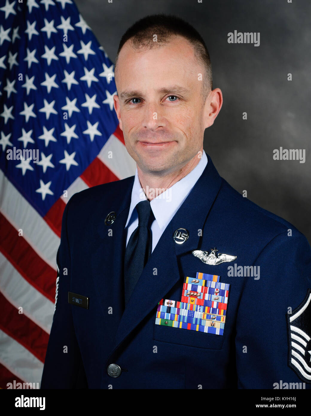 Master Sgt. Clint Stinnett, a loadmaster with the 165th Airlift Squadron, has been named the Kentucky Air National Stock Photo
