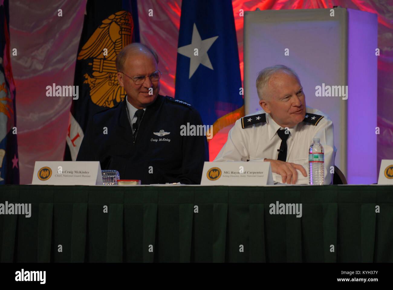 Gen. Craig R. McKinley, Chief of the National Guard Bureau, and Maj. Gen. Raymond Carpenter, Acting Director, U.S. - Stock Image