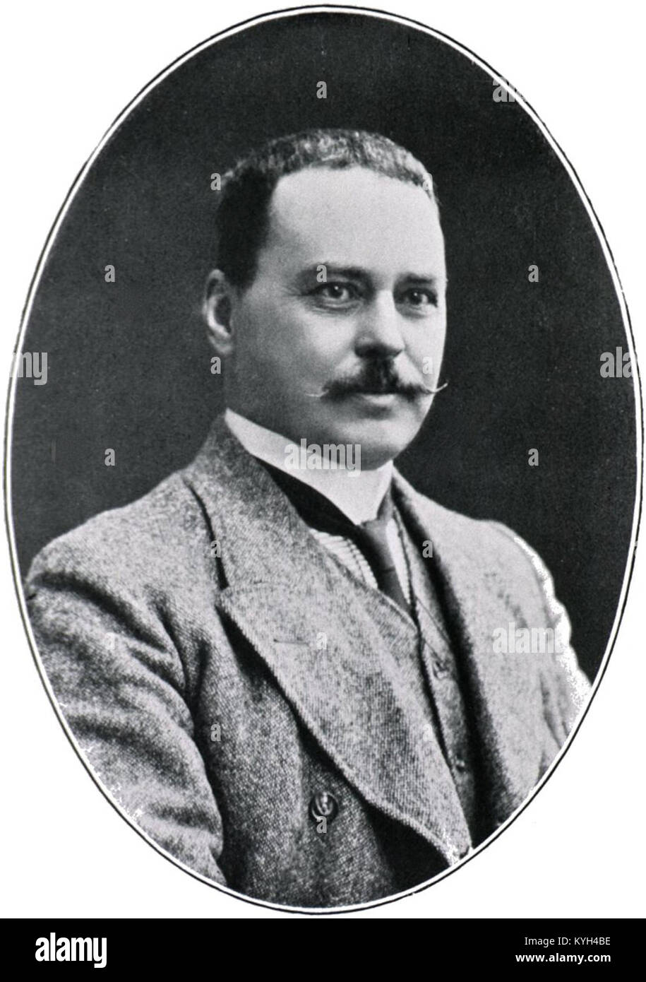 Sir Ronald Ross, British medical doctor who received the Nobel Prize for Physiology or Medicine in 1902 - Stock Image