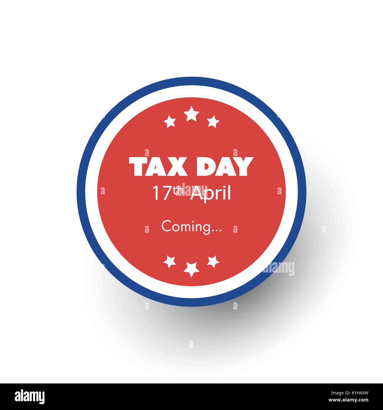 Round Tax Day Is Coming Label Or Badge Design Template USA Tax - Round return address label template
