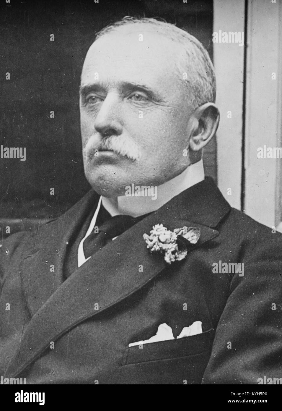 Field Marshal John Denton Pinkstone French, 1st Earl of Ypres, senior British Army officer. - Stock Image