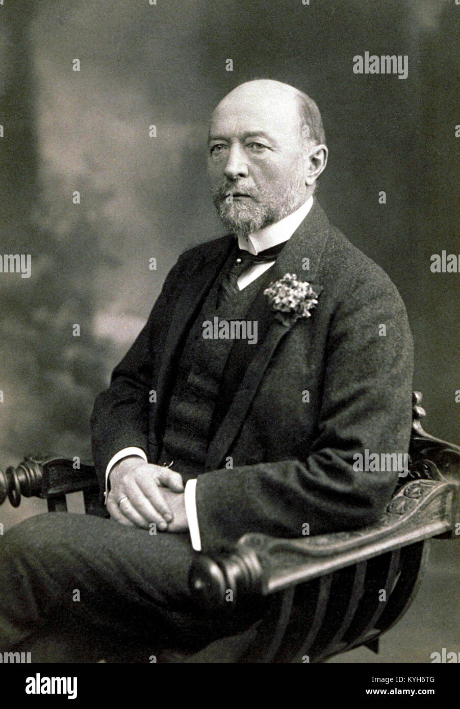 Emil von Behring, German physiologist who received the 1901 Nobel Prize in Physiology or Medicine, - Stock Image