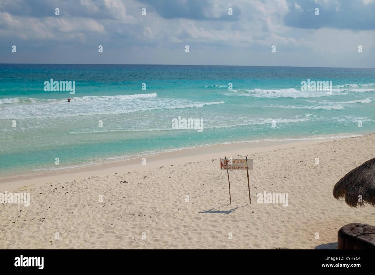 Playa San Martin, Cozumel Mexico. Stock Photo