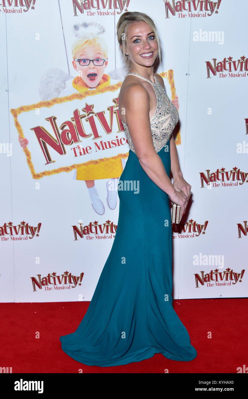 Arrivals For Nativity The Musical Held At Hammersmith Apollo Featuring Laura Hamilton Where London United Kingdom When 14 Dec 2017
