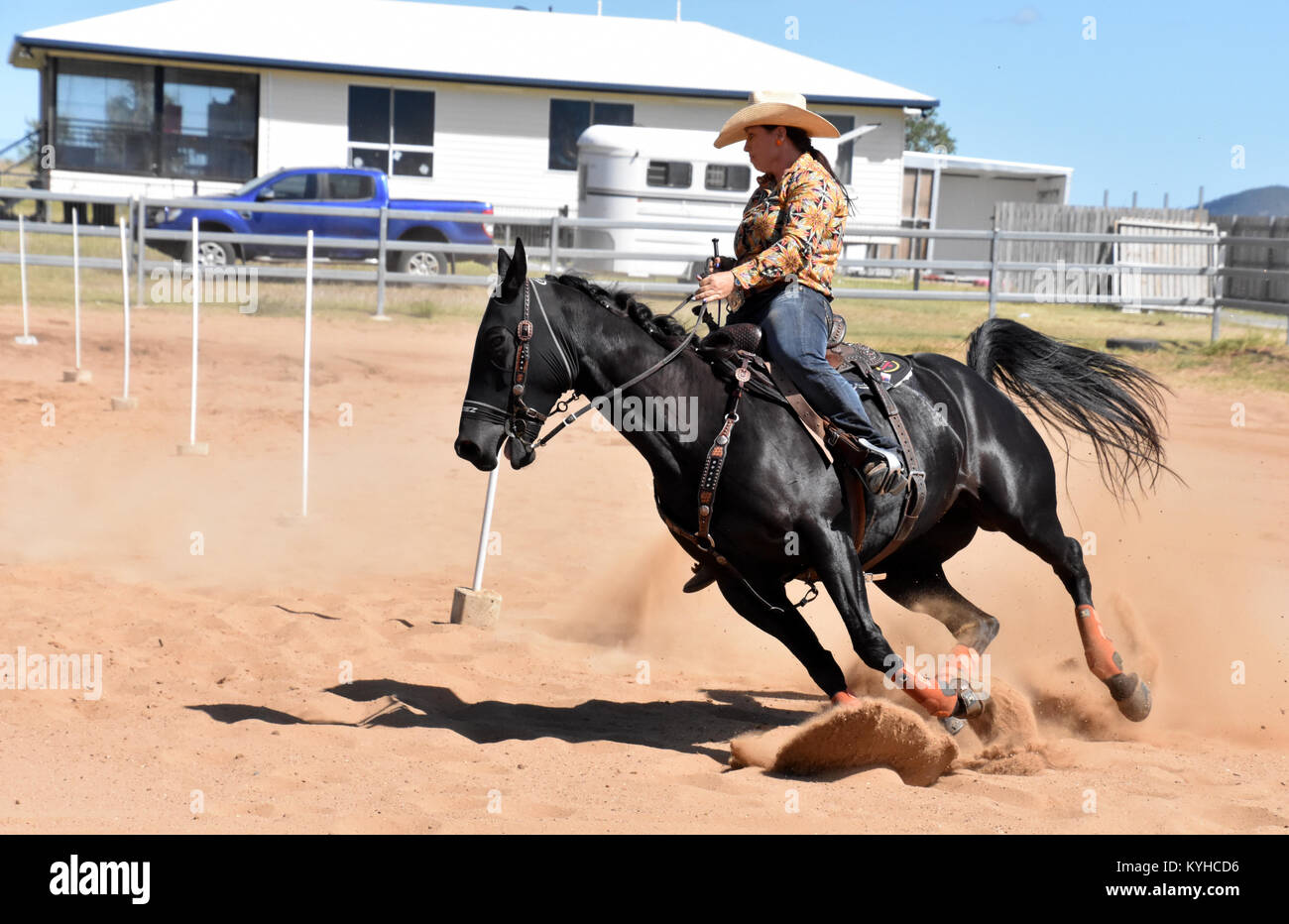 Rodeo Pole Racing High Resolution Stock Photography And Images Alamy