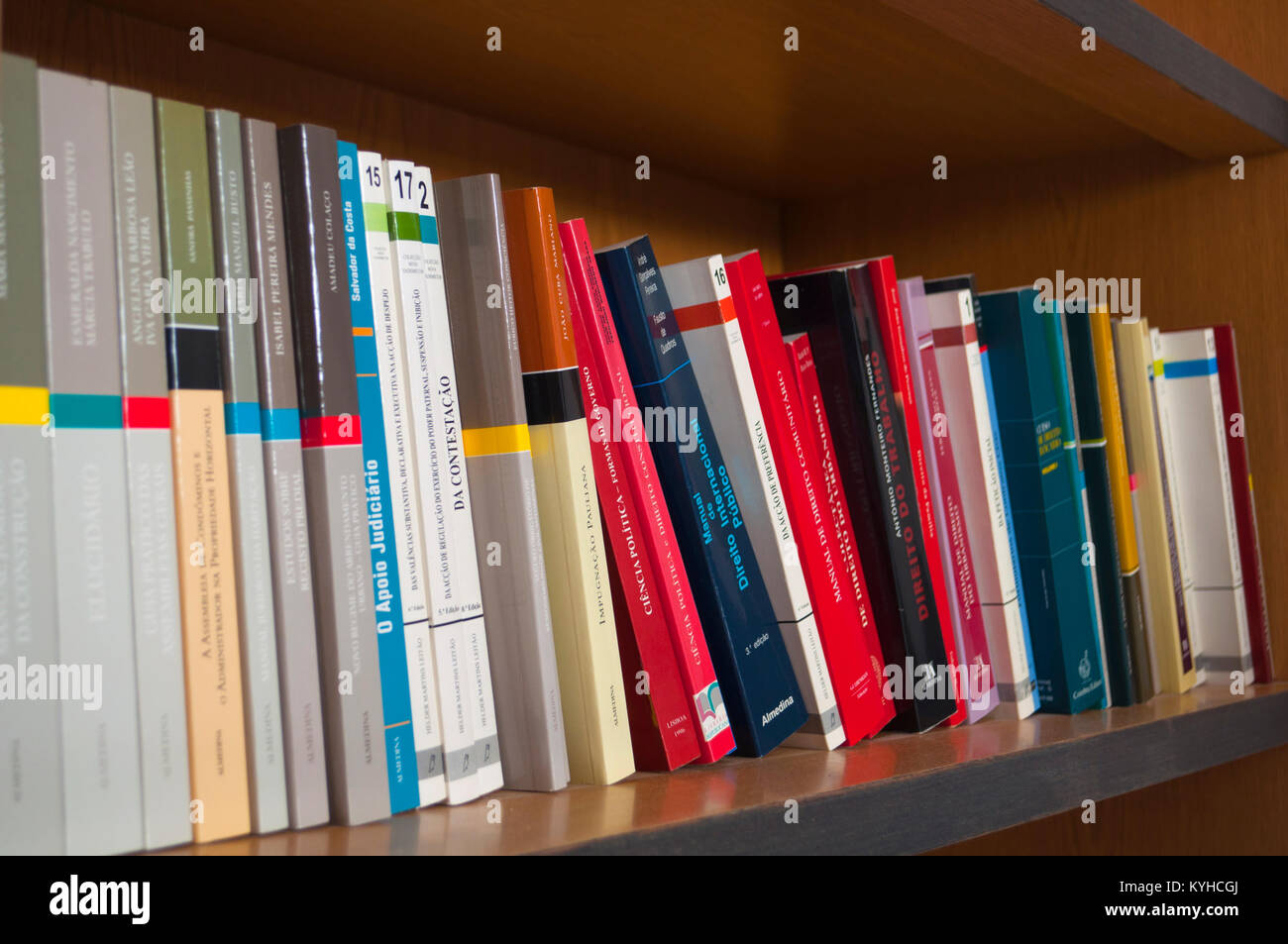 Law books in portuguese Stock Photo