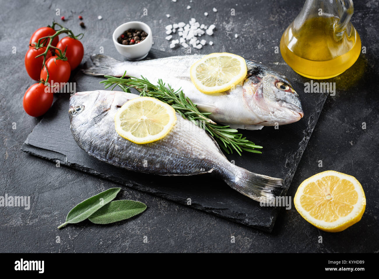 Raw fish fry stock photos raw fish fry stock images alamy for Frying fish in olive oil