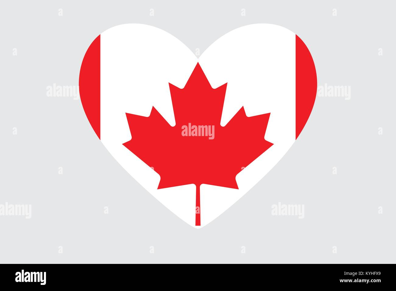 Heart In Colors And Symbols Of The Canadian Flag Vector Stock