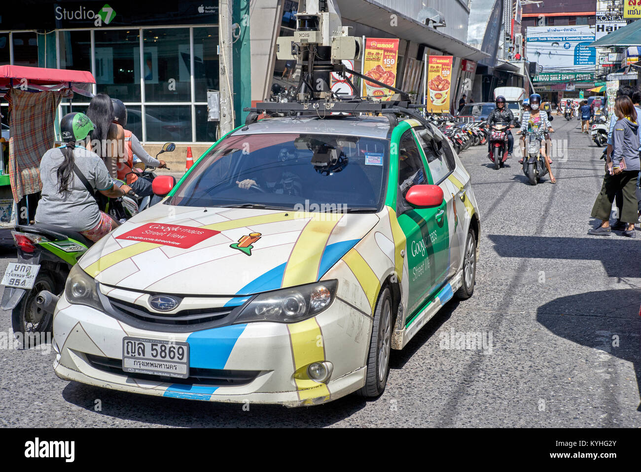 Google car street mapping in Pattaya Thailand Southeast Asia Stock Photo