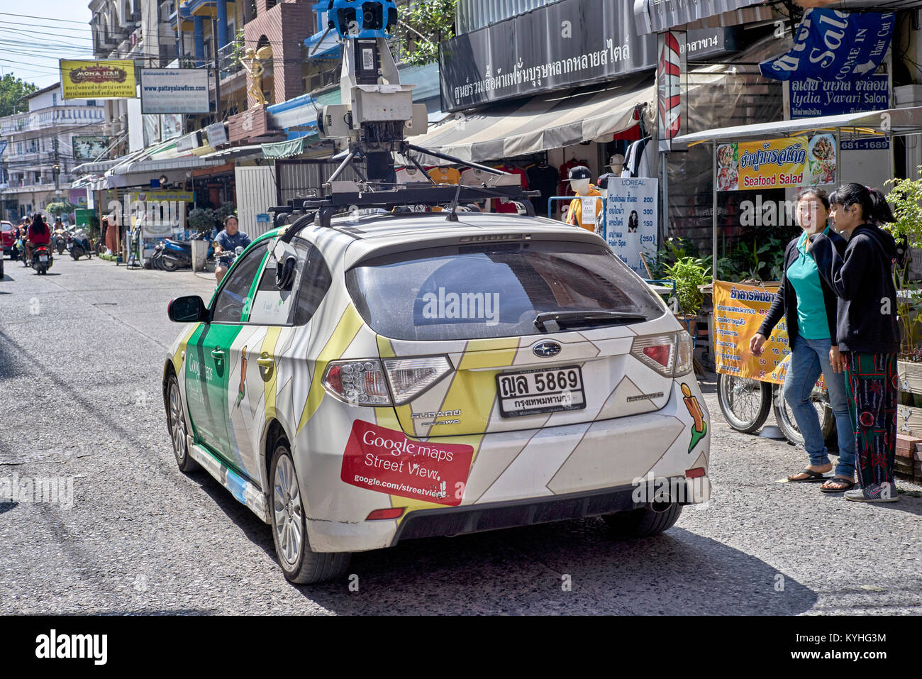 Google car street mapping in Pattaya Thailand Southeast Asia - Stock Image