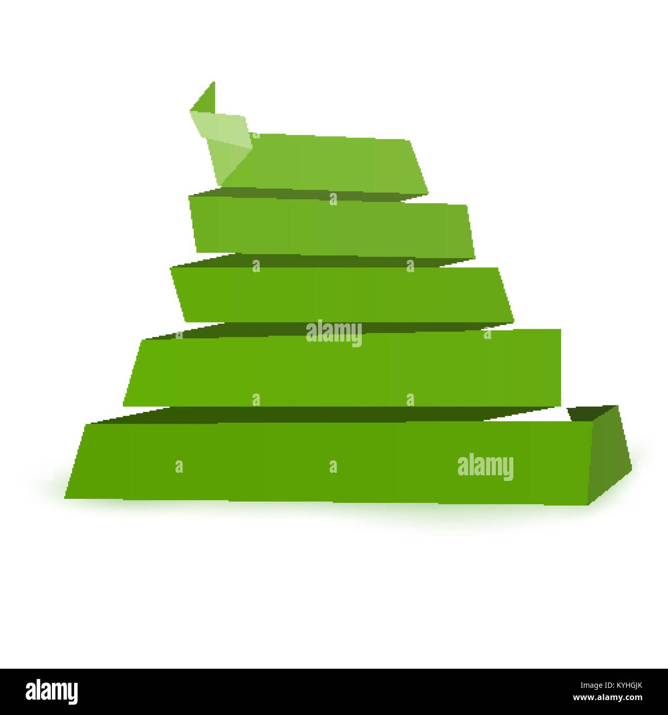 Green Paper Origami Pyramid Folded Backdrop Template