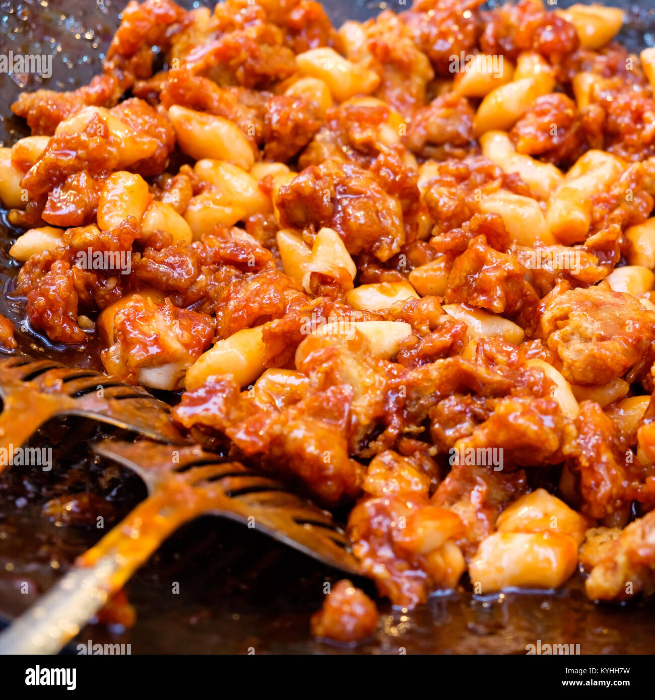 Stir Fried Rice Cake Tteok Bokki Korean Street Food Stock Photo Alamy