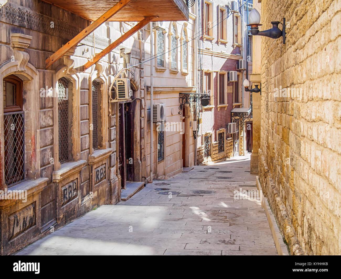 Street in Baku old town - Stock Image