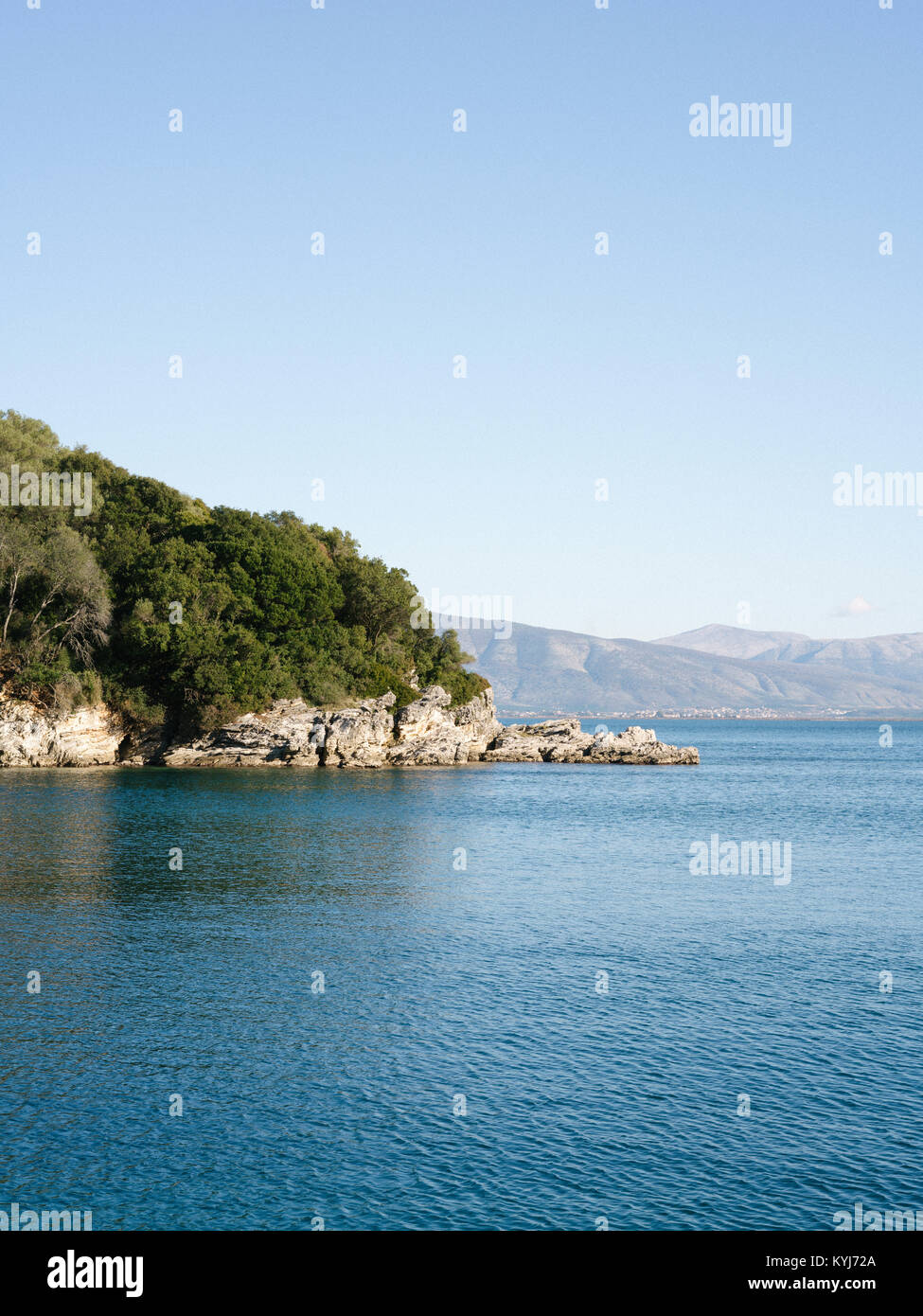 Gialiskari bay, the next bay from The Durrell's White house. - Stock Image