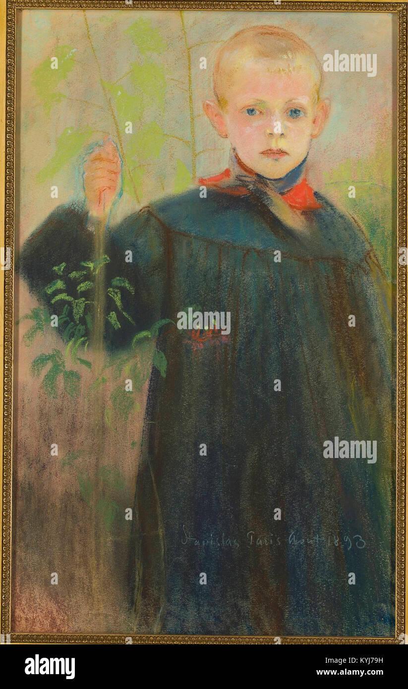 Stanisław Wyspiański - Chłopiec z kwiatem Stock Photo