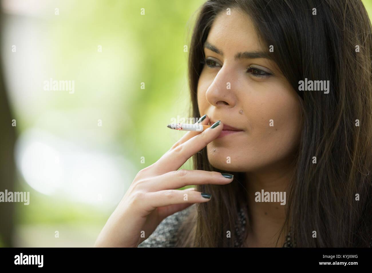Black bbw smoking