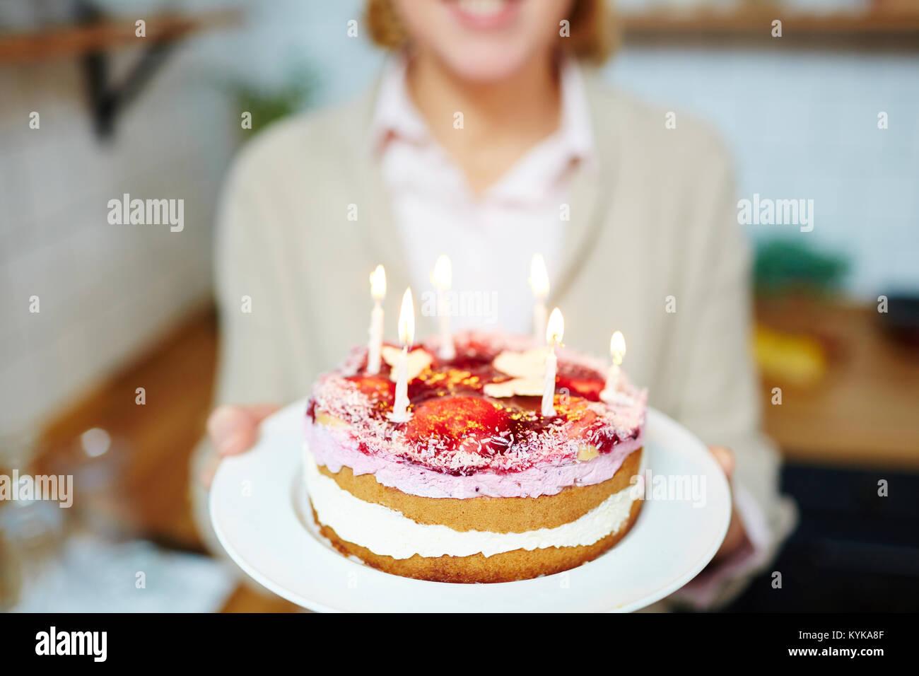 Fresh cake - Stock Image