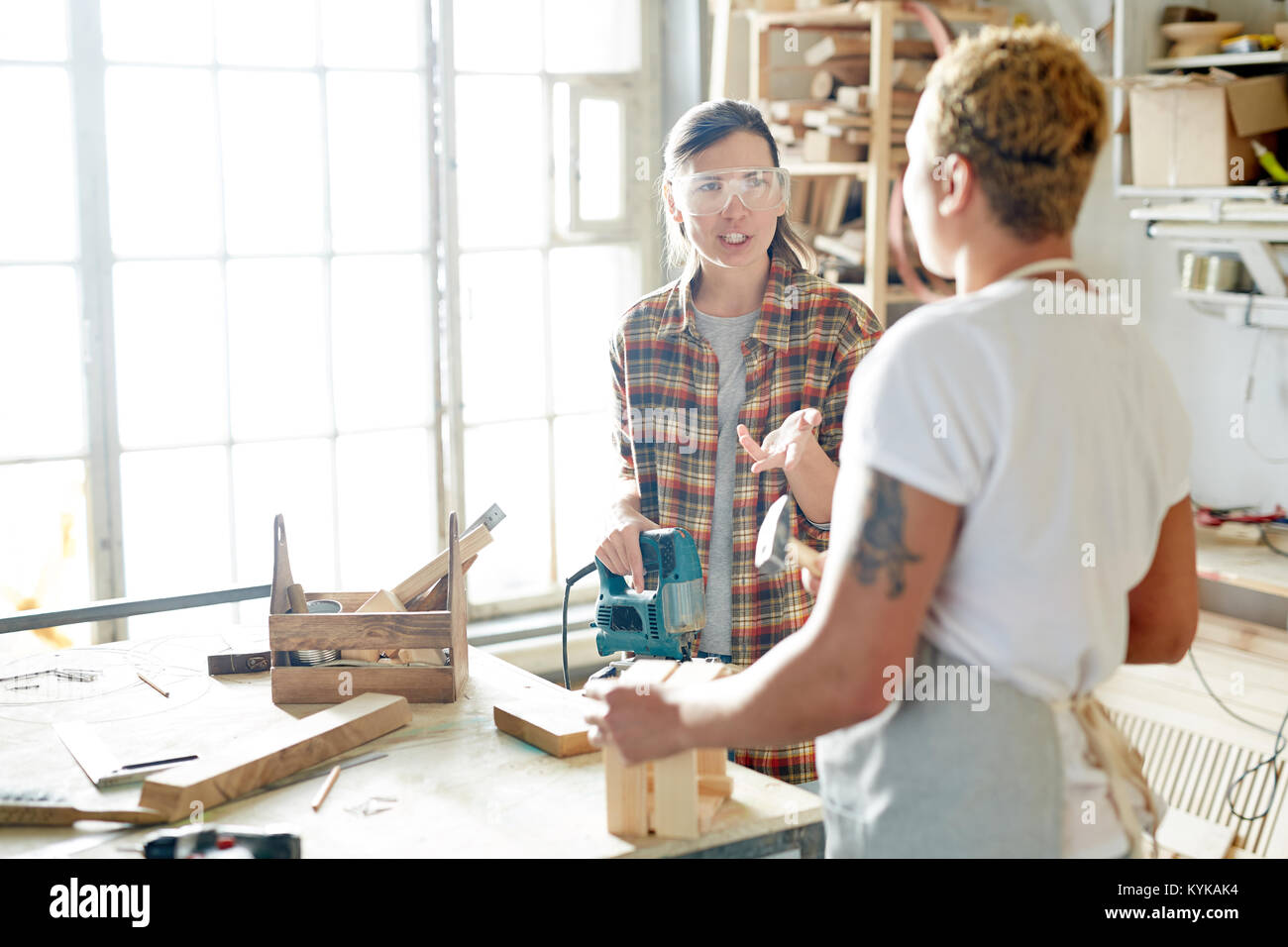 Talk at work - Stock Image