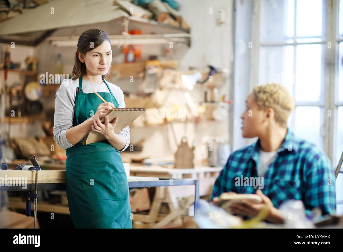 Working in group - Stock Image