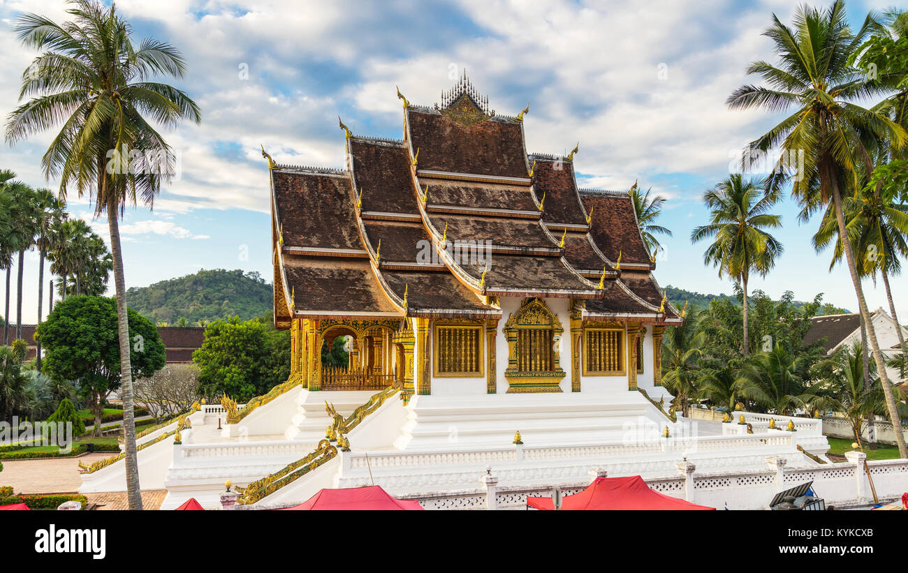 Temple in Royal Palace Museum Luang Prabang, Laos. - Stock Image
