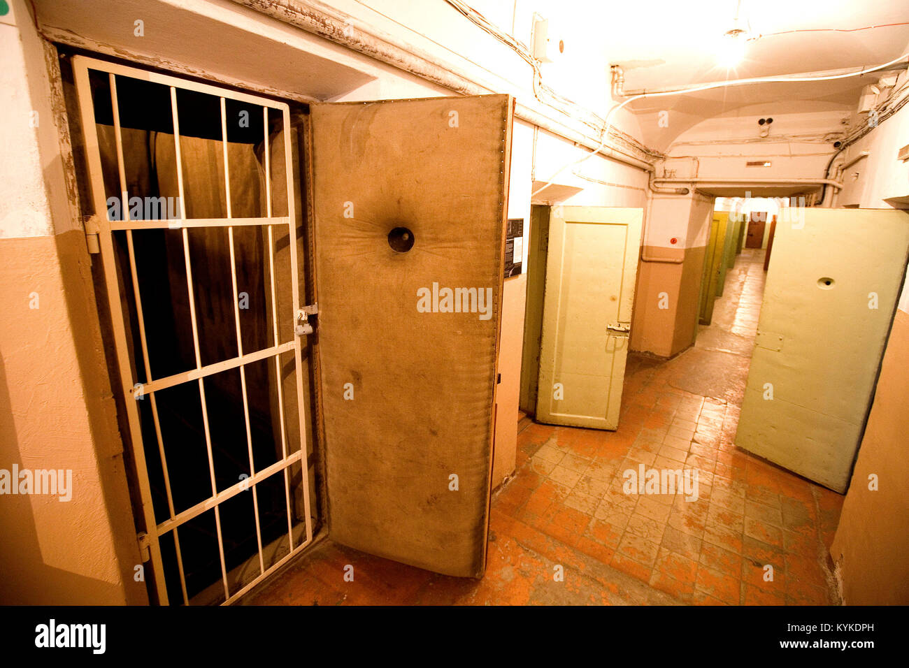 Place Lukiskiu, l'ancien immeuble du KGB a ete converti en Genocido Auku muziejus (musee des Victimes du Genocide). - Stock Image