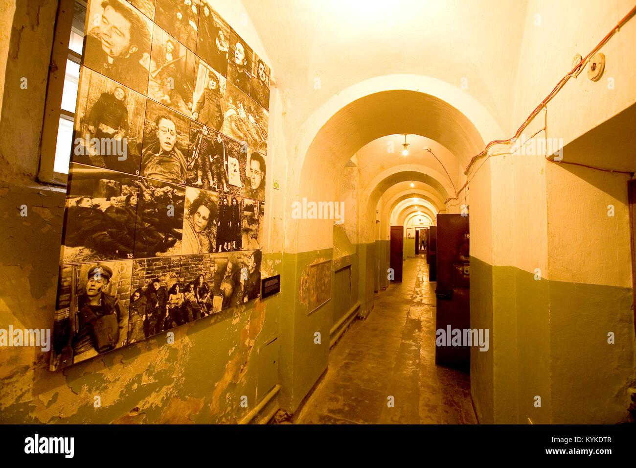 Place Lukiskiu, l'ancien immeuble du KGB a ete converti en Genocido Auku muziejus (musee des Victimes du Genocide), - Stock Image