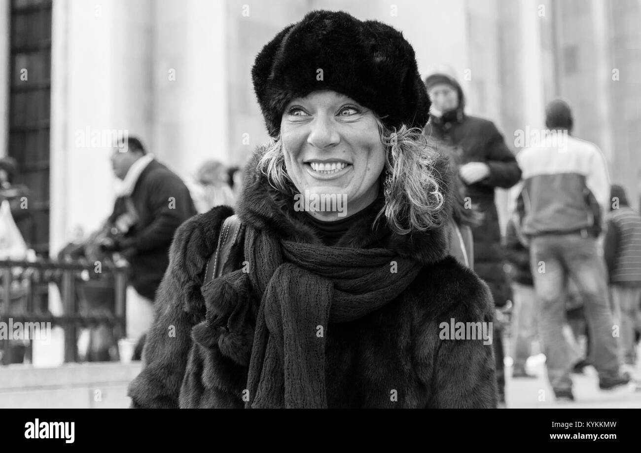 28ec384f1 Fur Hat Black and White Stock Photos & Images - Alamy