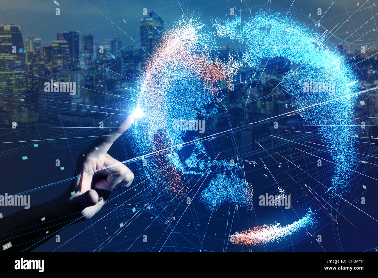 Global network concept. - Stock Image