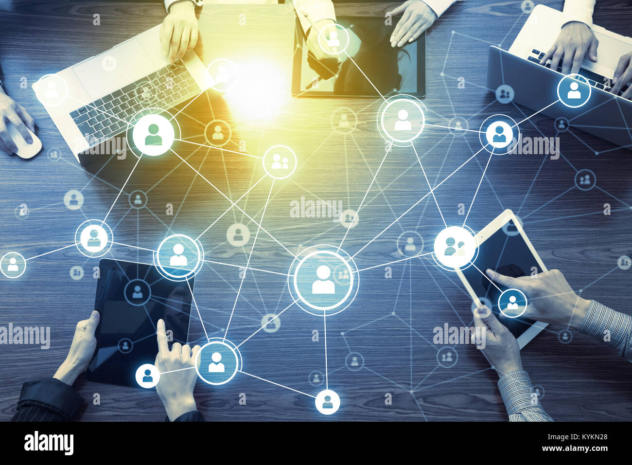 Social networking concept. - Stock Image