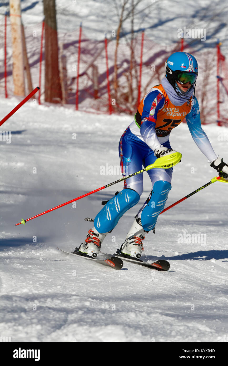 Val Saint-Come,Canada 14/01/2018.Charlotte Leduc of Canada for Team Mont_Blanc competes at the Super Serie Sports - Stock Image