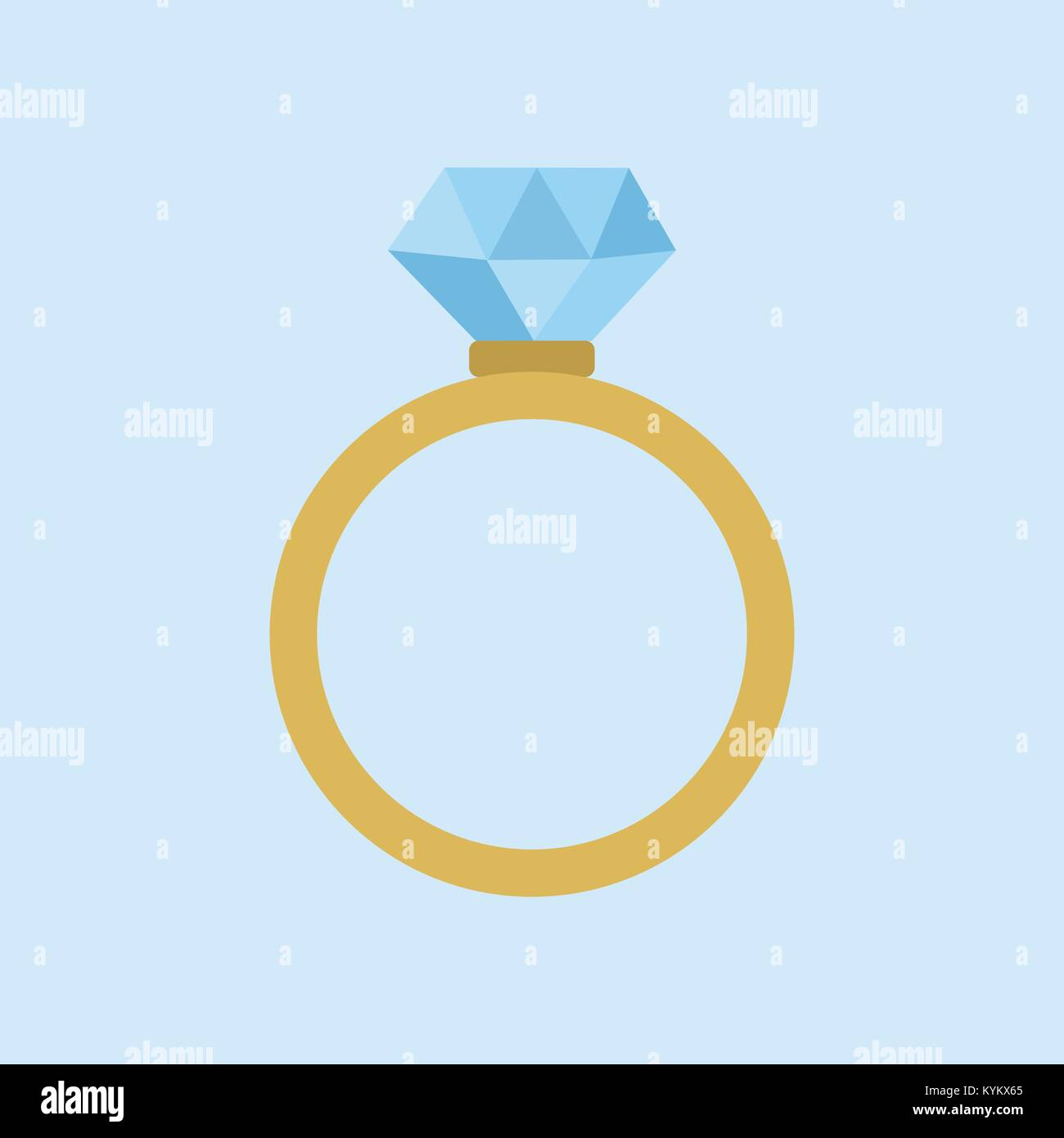 wedding diamond ring vector illustration graphic design stock vector