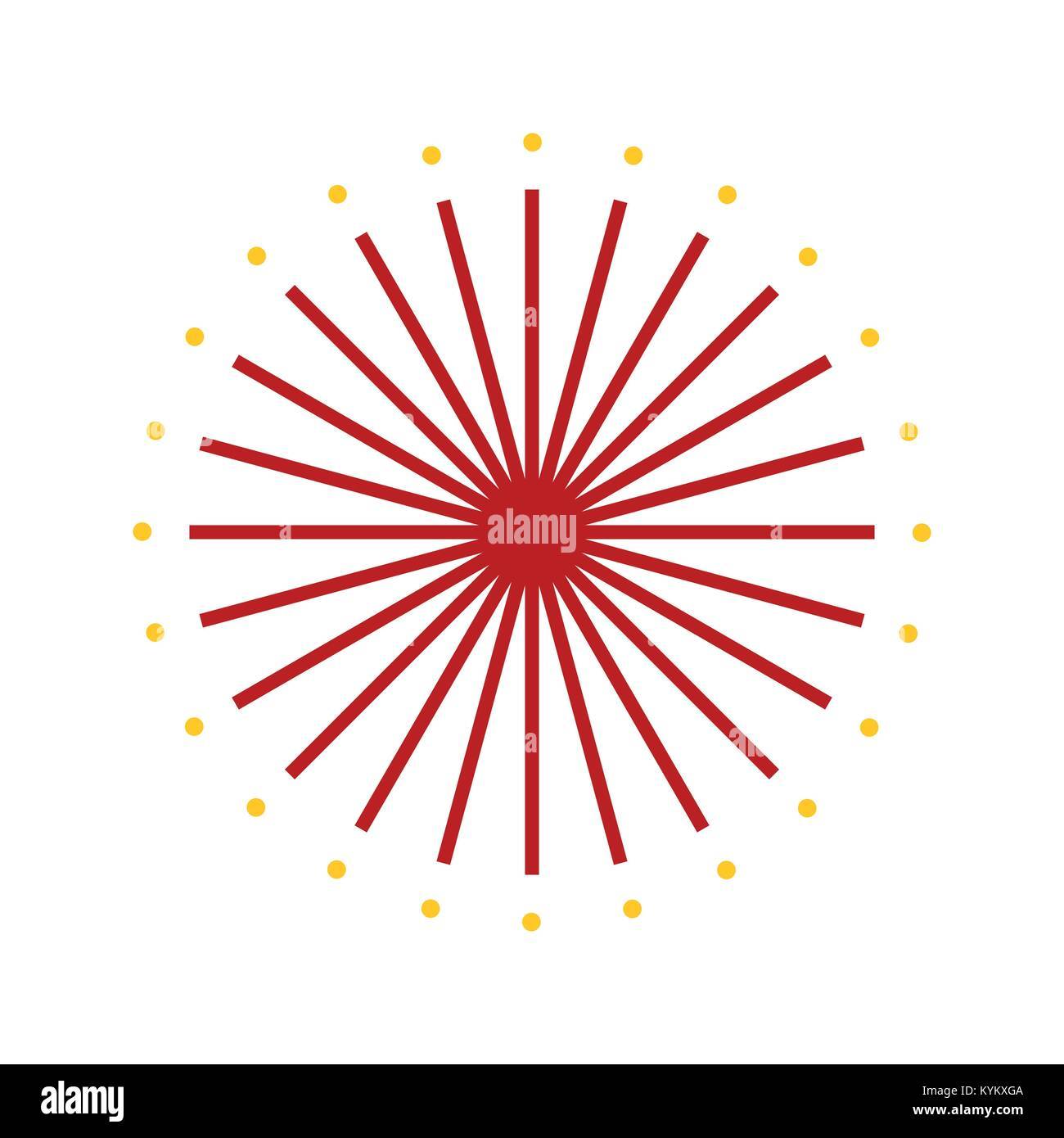 Abstract firework sparks vector illustration graphic design stock image