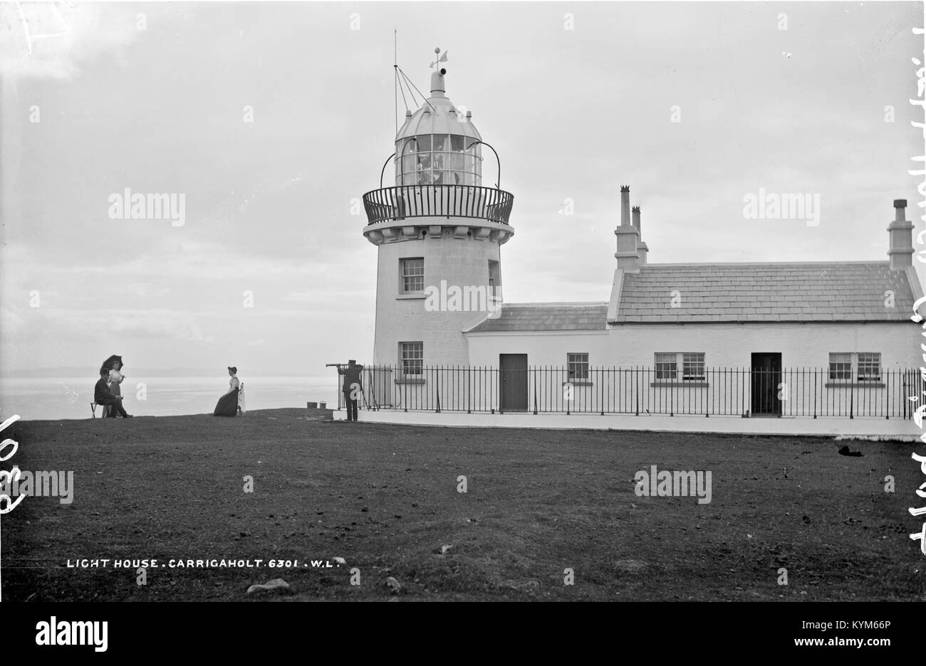 Lighthouse, Carrigaholt, Co Clare 39480862741 o - Stock Image