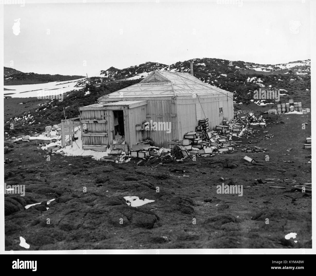 Expedition Building in Antarctica 5243256813 o - Stock Image