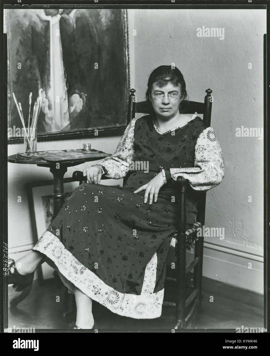 Marguerite Zorach, American painter and printmaker, 1887-1968, in her studio 3378177975 o - Stock Image