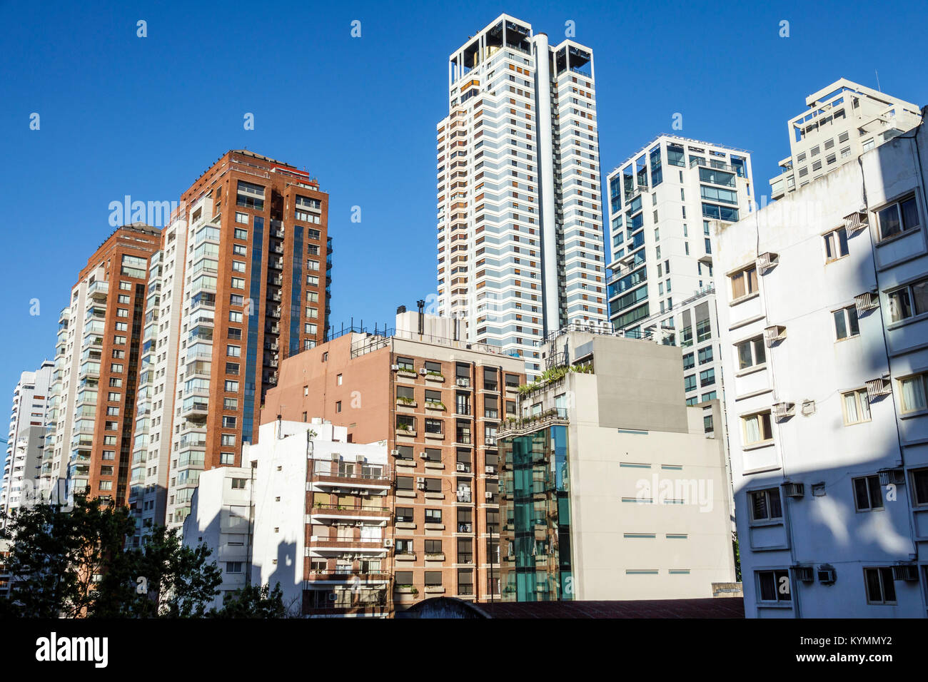 Buenos Aires Argentina,Palermo,city skyline,view,apartment building,architecture,high rise rises skyscraper skyscrapers building buildings tower tower Stock Photo
