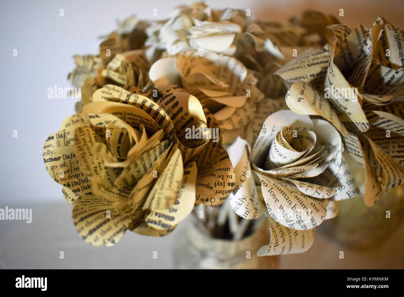 Newspaper Paper Flower Stock Photo 171945080 Alamy