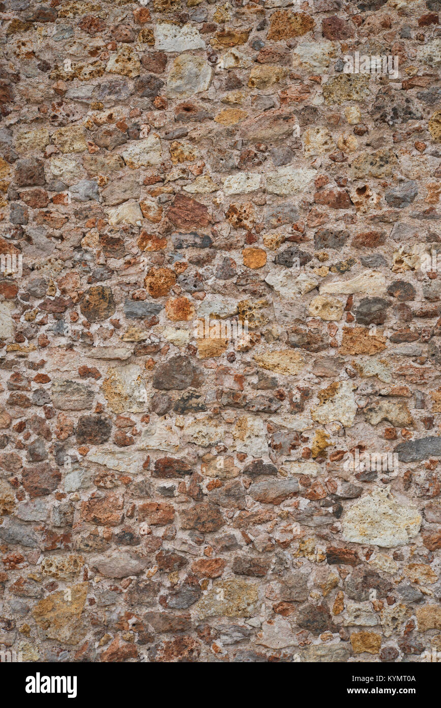 Images of wall surfaces to show regular and irregular patterns. Stock Photo