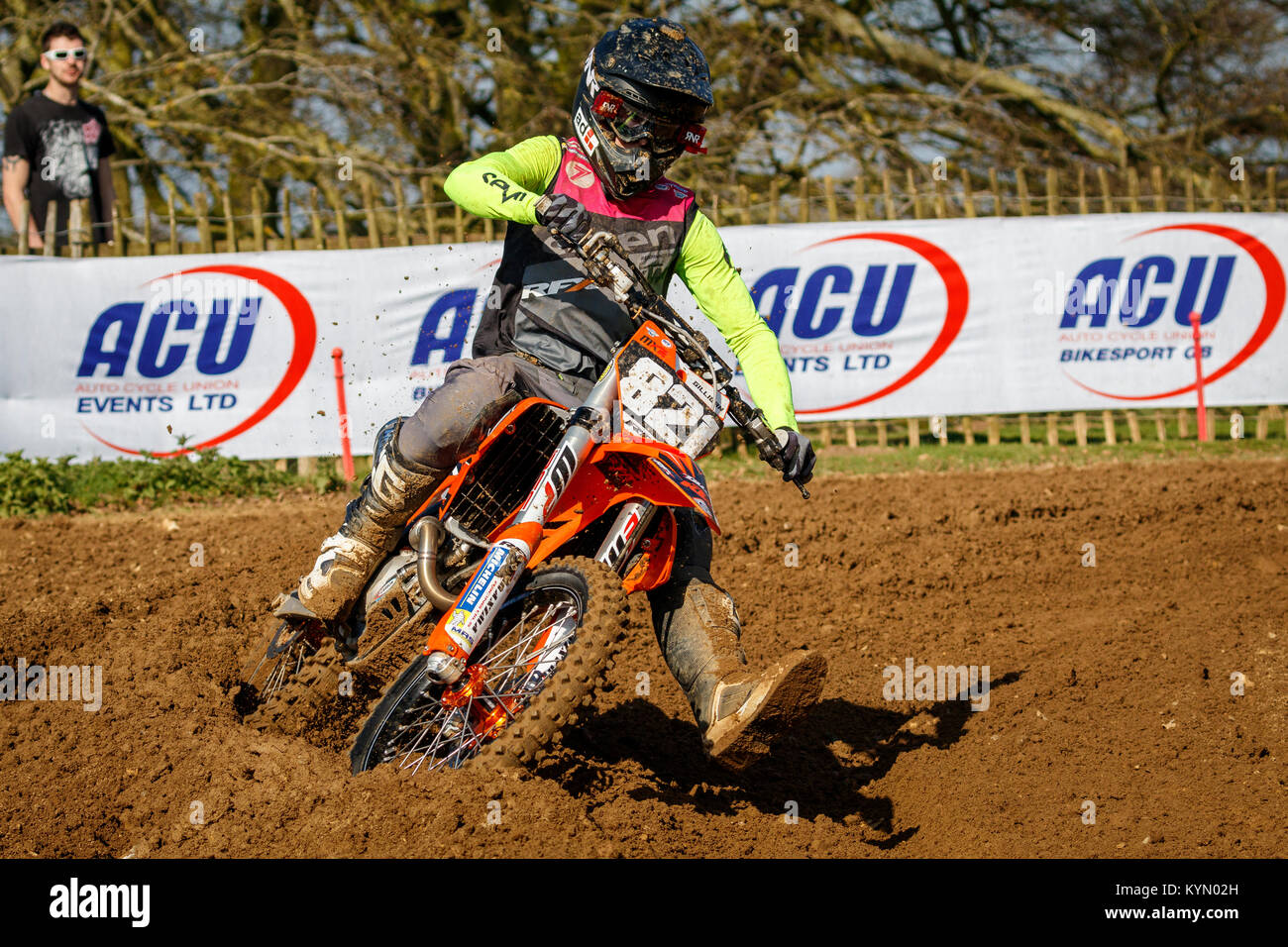 Patrick Gilligan on the RFX KTM at the 2017 Maxxis British Championship, Cadders Hill, Lyng, Norfolk, UK. - Stock Image