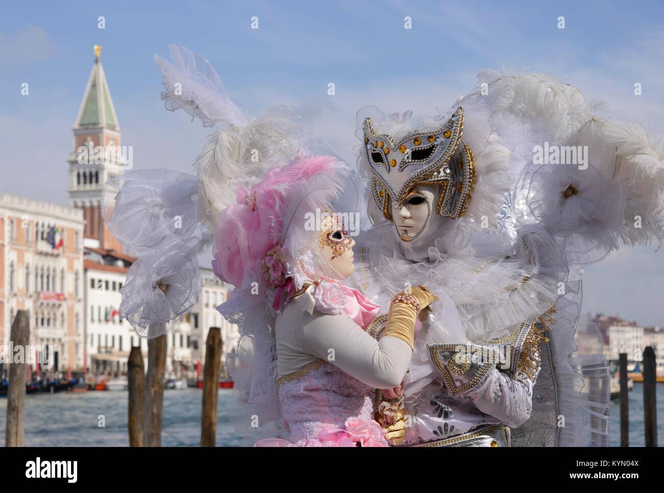 Carneval in Venice, Karneval in Venedig - Stock Image
