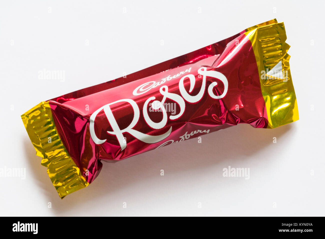 Cadbury Roses Brazilian Darkness chocolate isolated on white background - Cadbury Roses chocolates - Stock Image