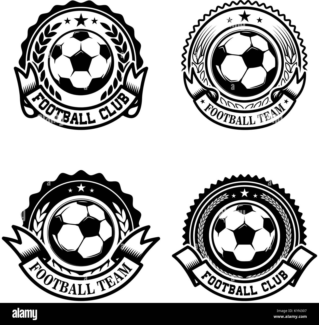 Set of soccer football emblems design element for logo label set of soccer football emblems design element for logo label emblem sign vector illustration biocorpaavc Choice Image