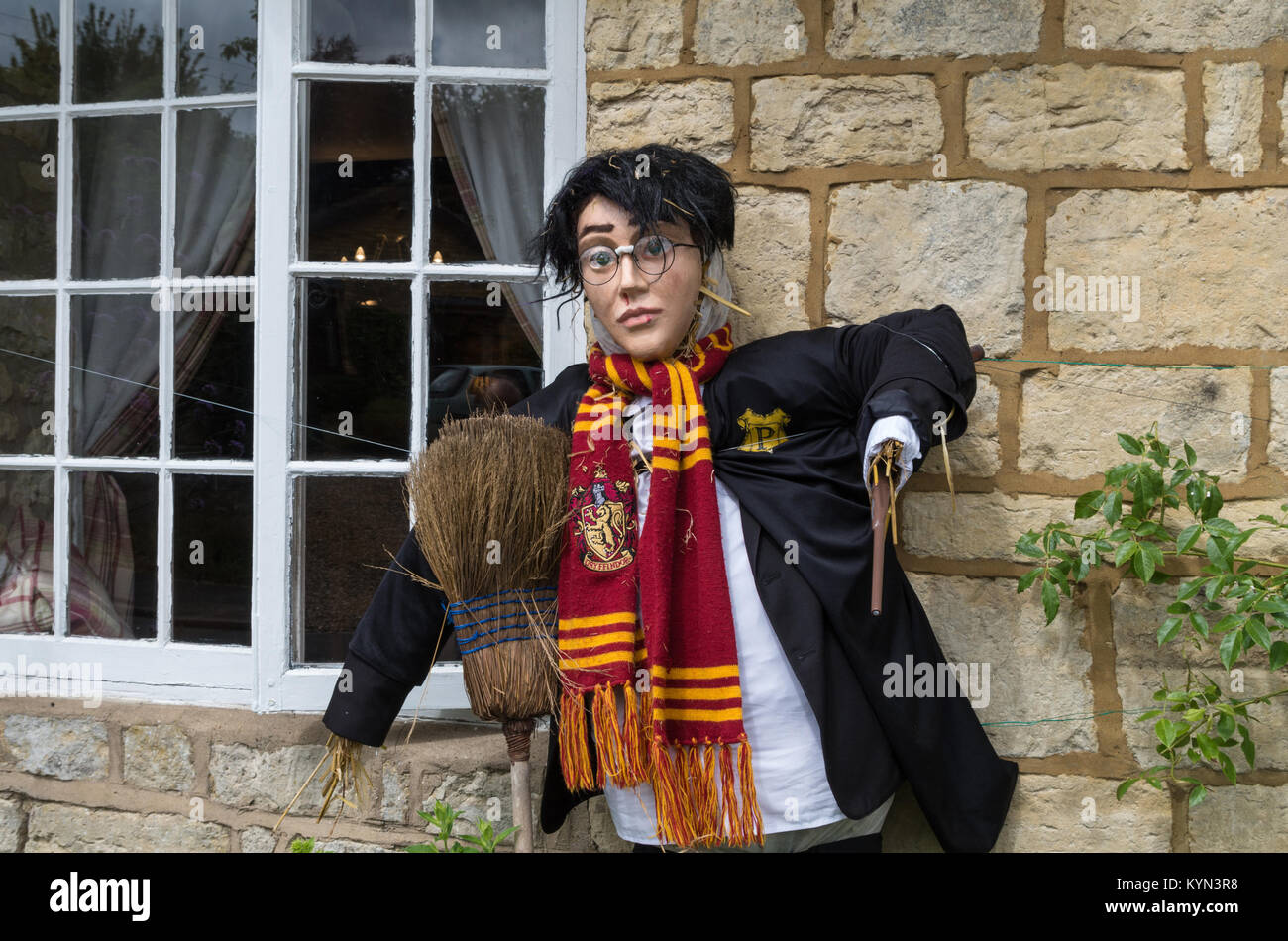 harry potter scarecrow high resolution stock photography and images alamy https www alamy com stock photo scarecrow in the form of harry potter one of the entrants for the 171953020 html