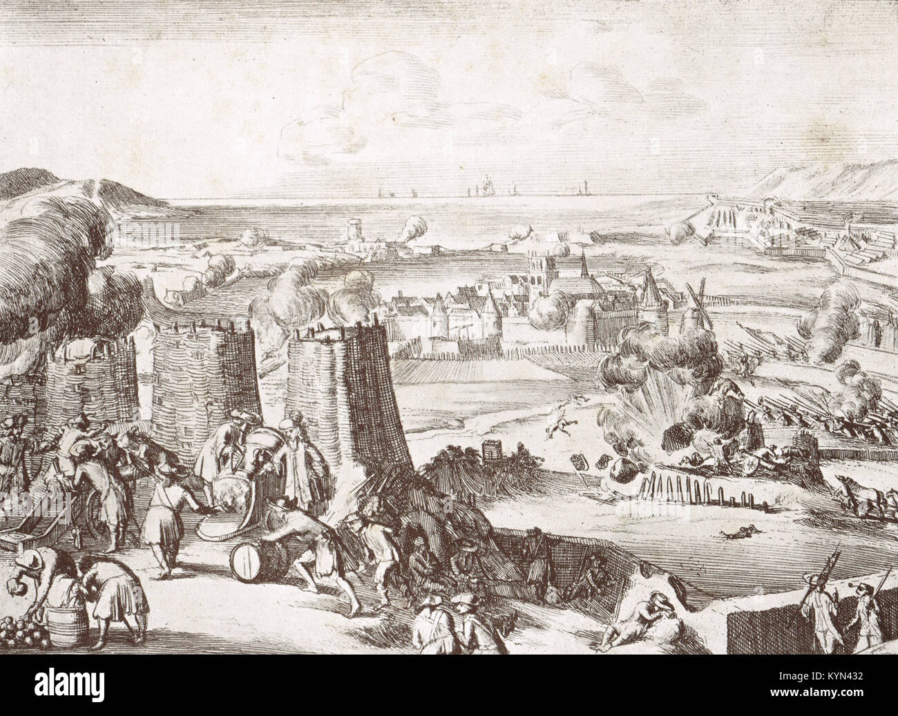 The Siege of Derry, 1689 AKA Londonderry - Stock Image