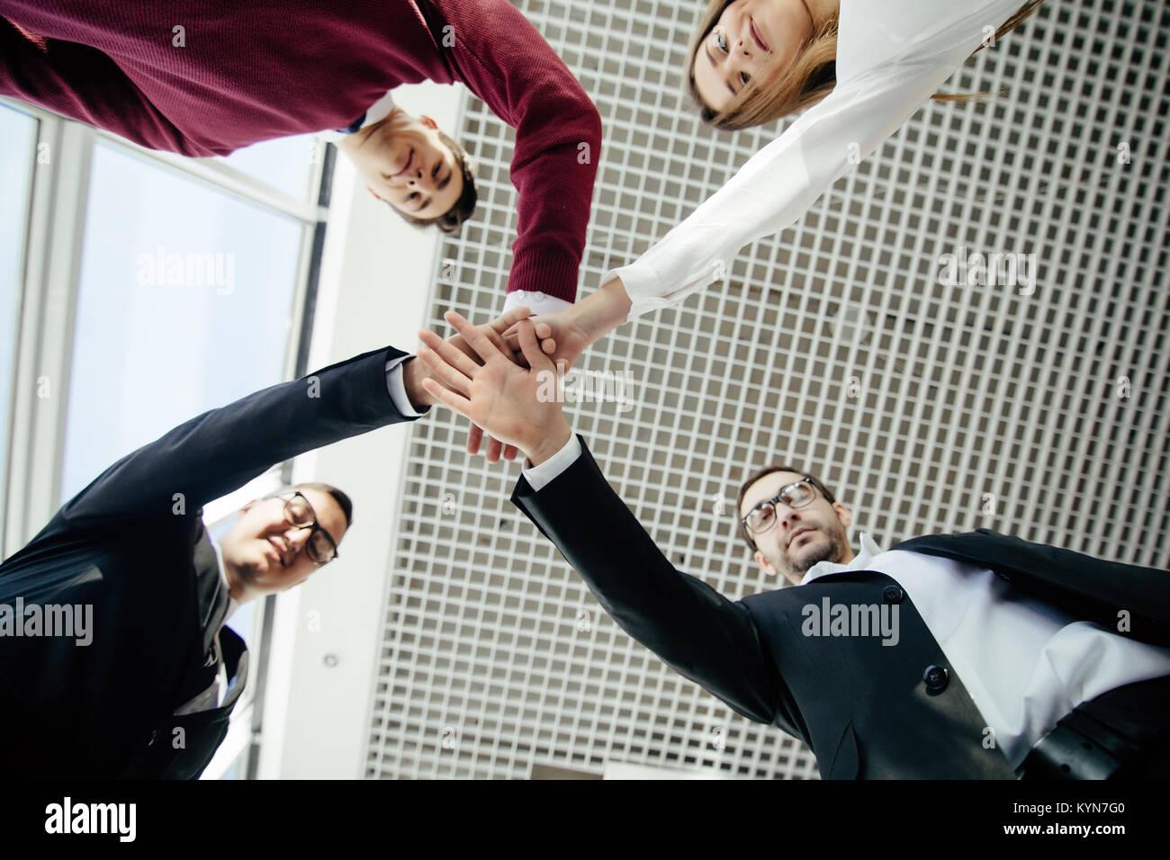 Teamwork Join Hands Support Together Concept. Team work. - Stock Image