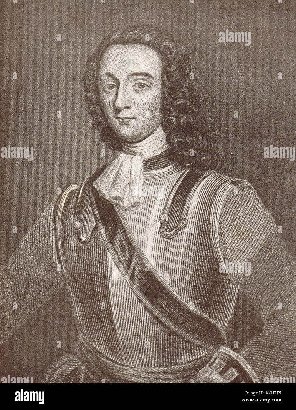 Counsellor David Cairns, prominent defender at the Siege of Derry, 1689 - Stock Image