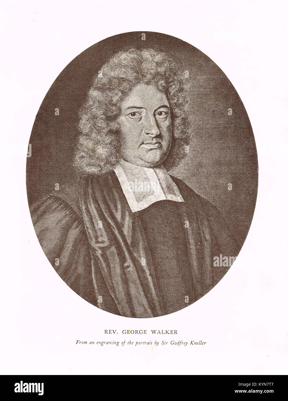 Rev George Walker,  joint Governor of Derry, Siege of Derry 1689 - Stock Image