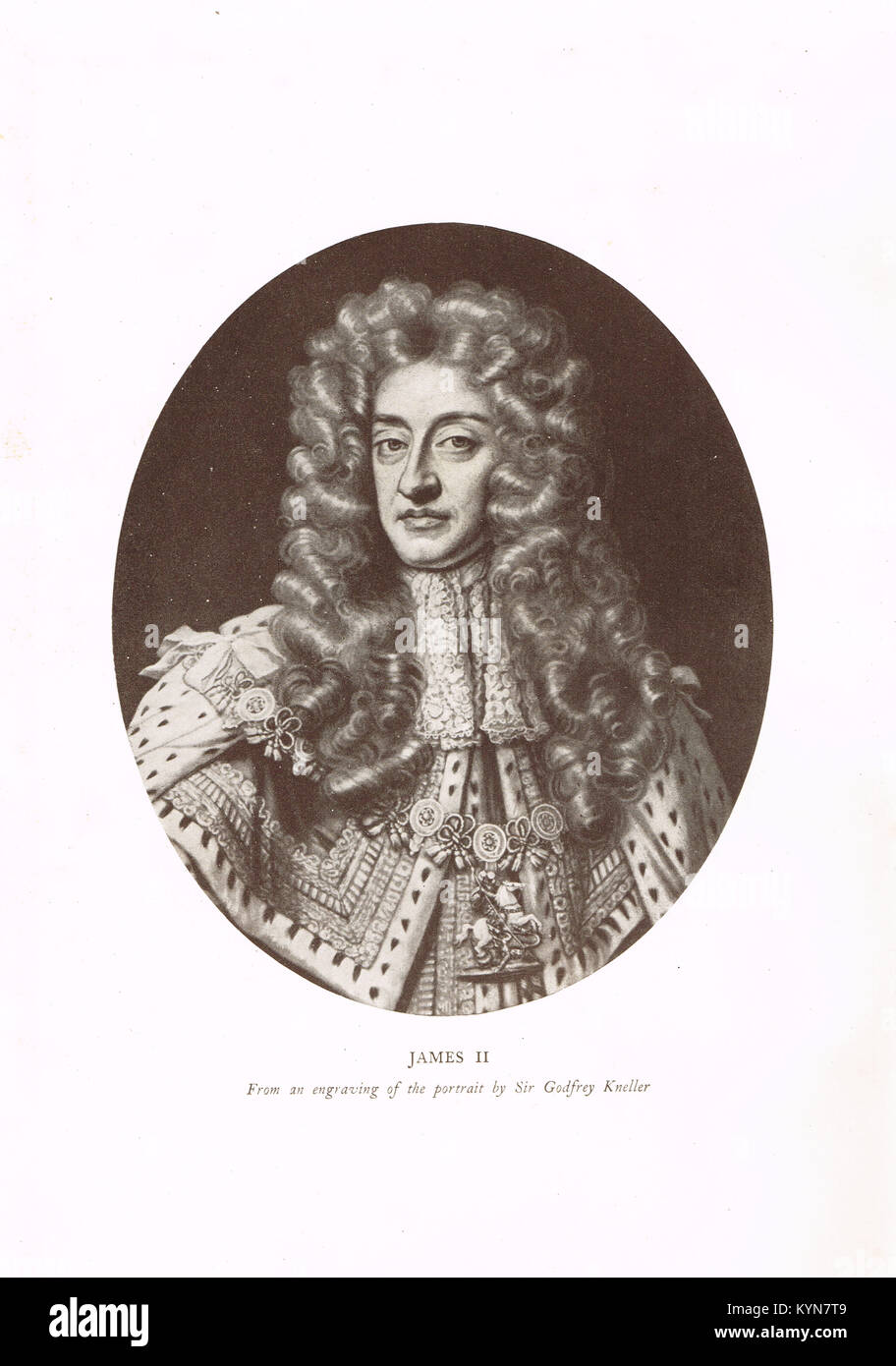 King James II of England, King of Scotland as James VII, 1633-1701, reigned 1685-1688, last Roman Catholic monarch - Stock Image