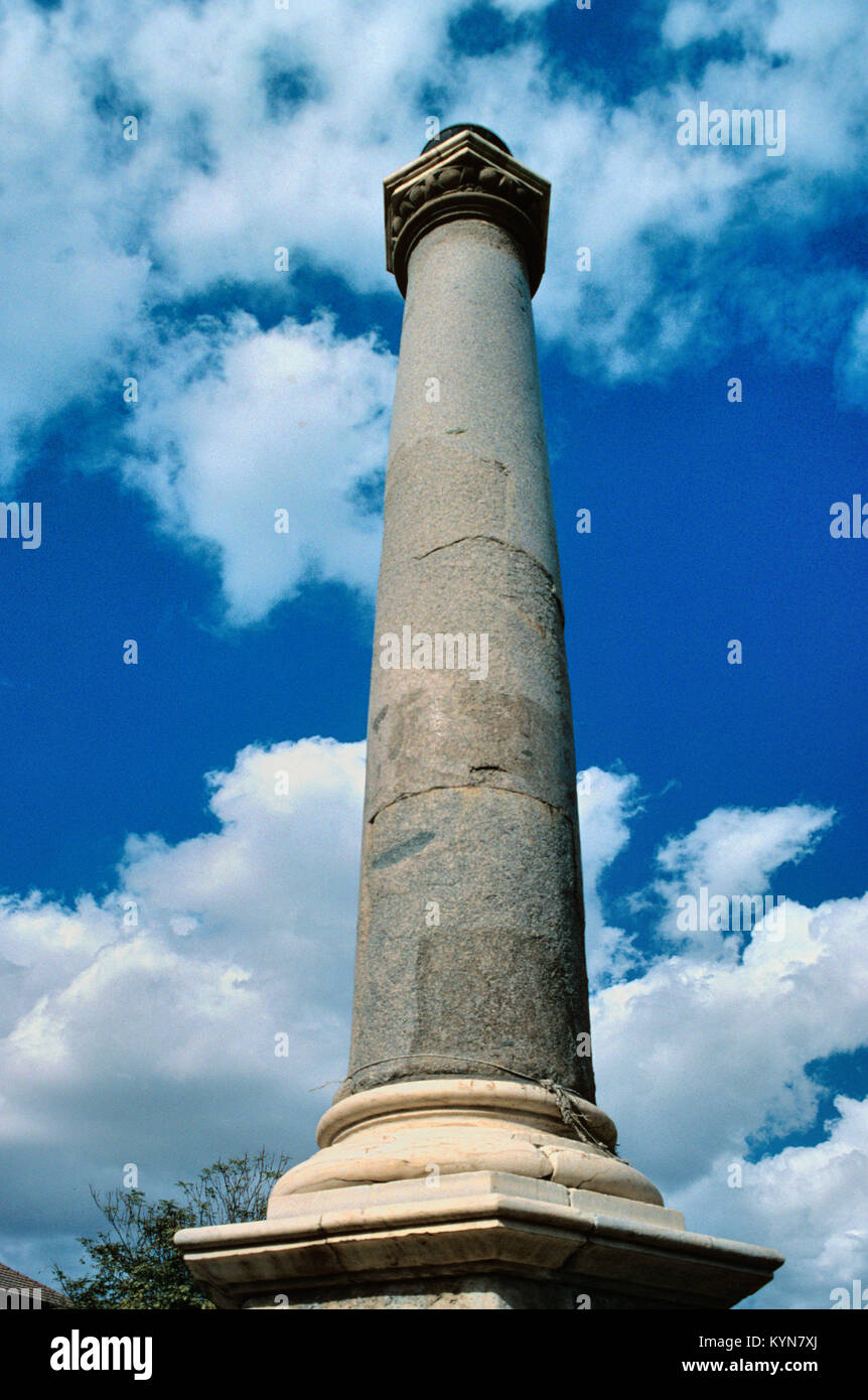 Venetian Column at Centre of Sarayonu Square (aka Ataturk Square, and formerly Konak Square, Saray Square and Orduonu - Stock Image