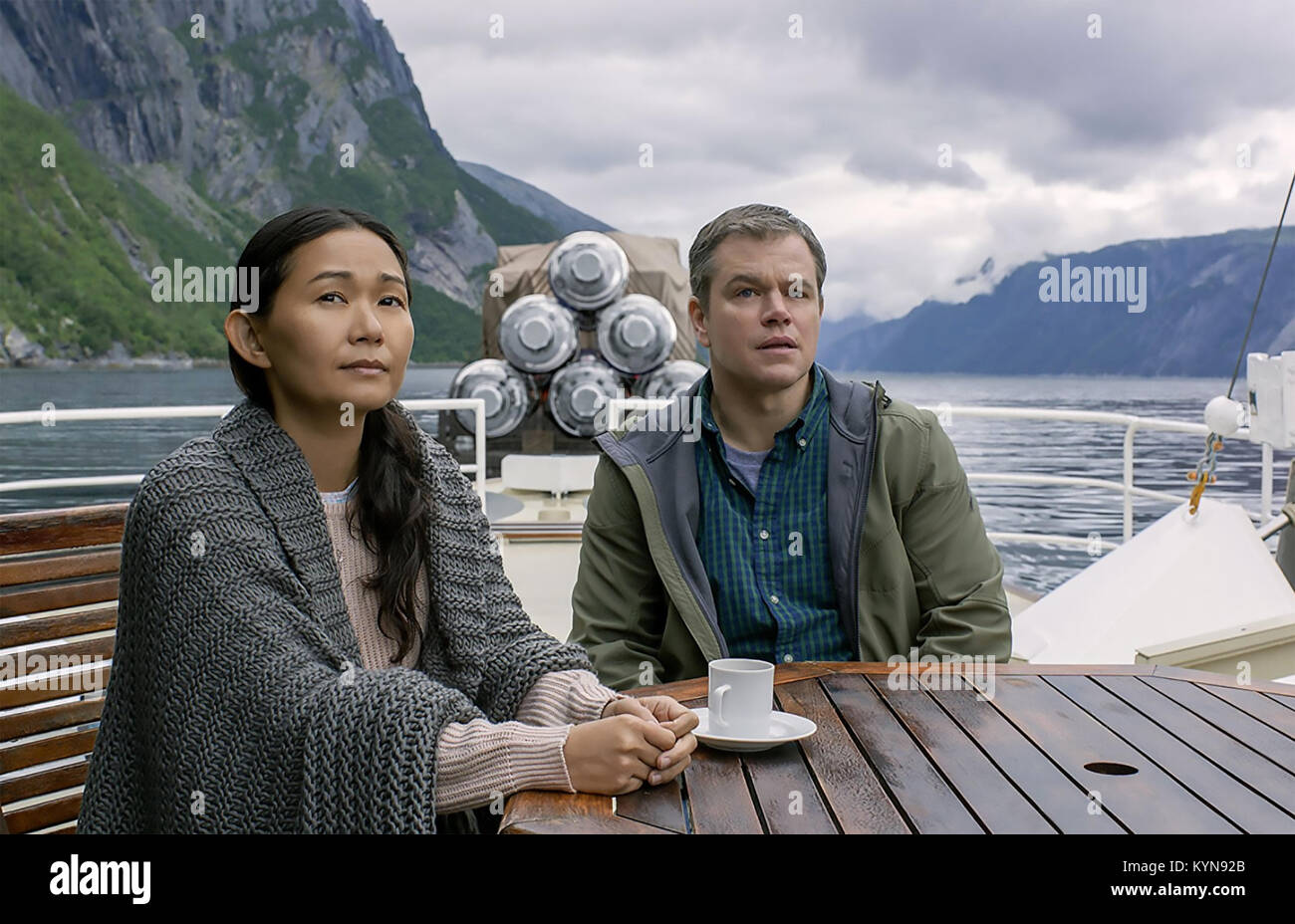 DOWNSIZING  2017 Paramount Pictures film with Matt Damon and Hong Chau - Stock Image